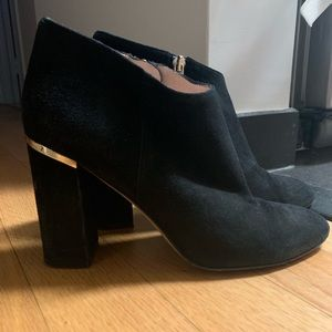 Lightly worn black suede boots